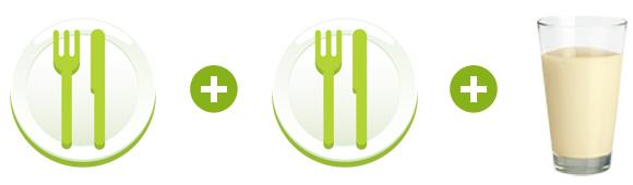 almased diät in der 3. Phase auch wieder 2 Mahlzeiten am Tag