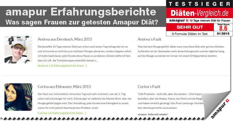 amapur diät erfahrungen - was sagen frauen die amapur probiert haben