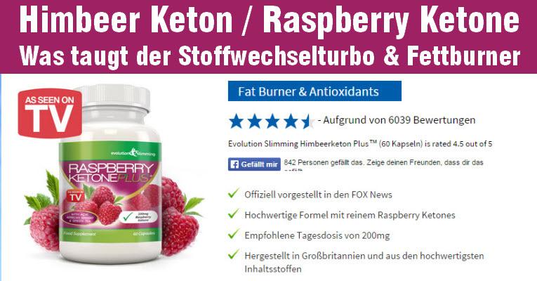 Himbeer Keton - Raspberry Ketone die Diätpille zum abnehmen aus den USA