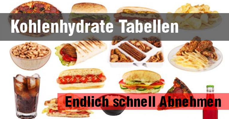 kohlenhydrate tabellen und endlich schnell abnehmen