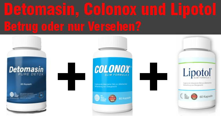 Detomasin, Colonox und Lipotol bekommen immer mehr Kritik im Internet detomasin, colonox und lipotol