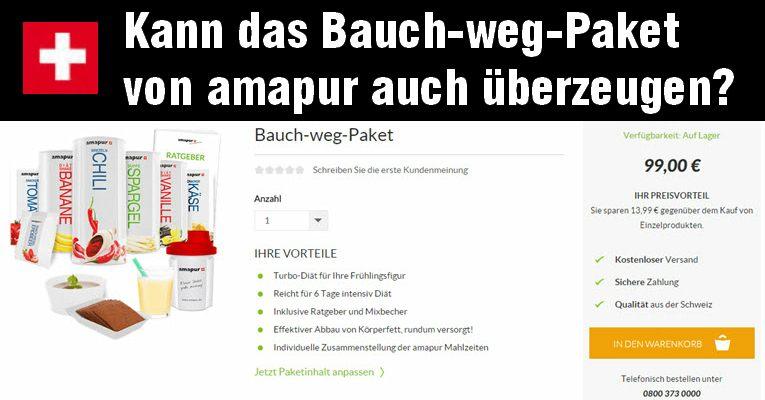 das amapur Bauch-weg-Paket im test - alle erfahrungen zu amapur