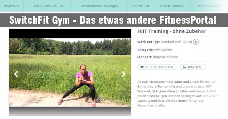 SwitchFit Gym - Online Fitness zum mitmachen switchfit gym