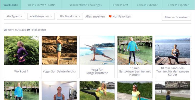 switchfit gym bietet viele fitnessvideos und workouts