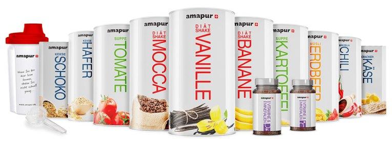 shakes, kekse,suppen und snaks gehören zum großen amapur sortiment