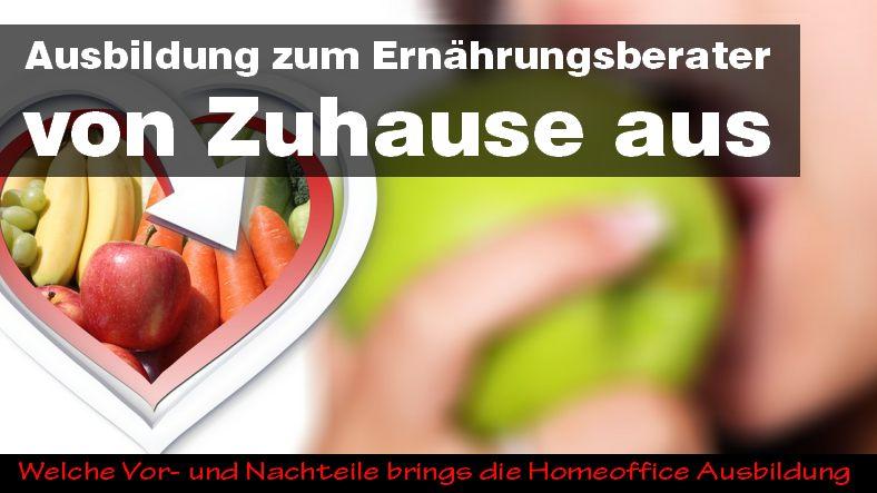 Ausbildung zum Ernährungsberater von Zuhause aus