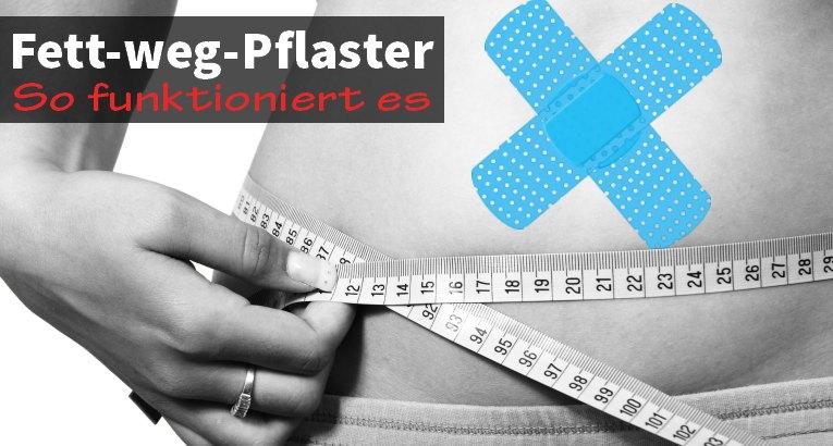 Fett-weg-Pflaster - so funktioniert es fett-weg-pflaster