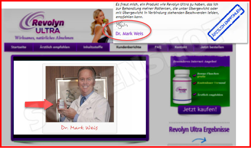 Diät-Wundermittel Revolyn Ultra HOT oder SCHROTT dr. mark weis
