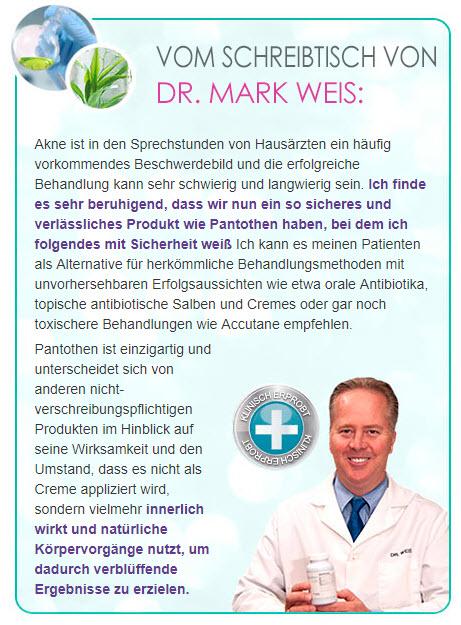 Dr. Mark Weis empfiehlt auch Pantothen